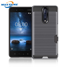Maxshine 2018 factory supplier drop 저항하는 case 대 한 nokia 8 백 cover case paypal accept