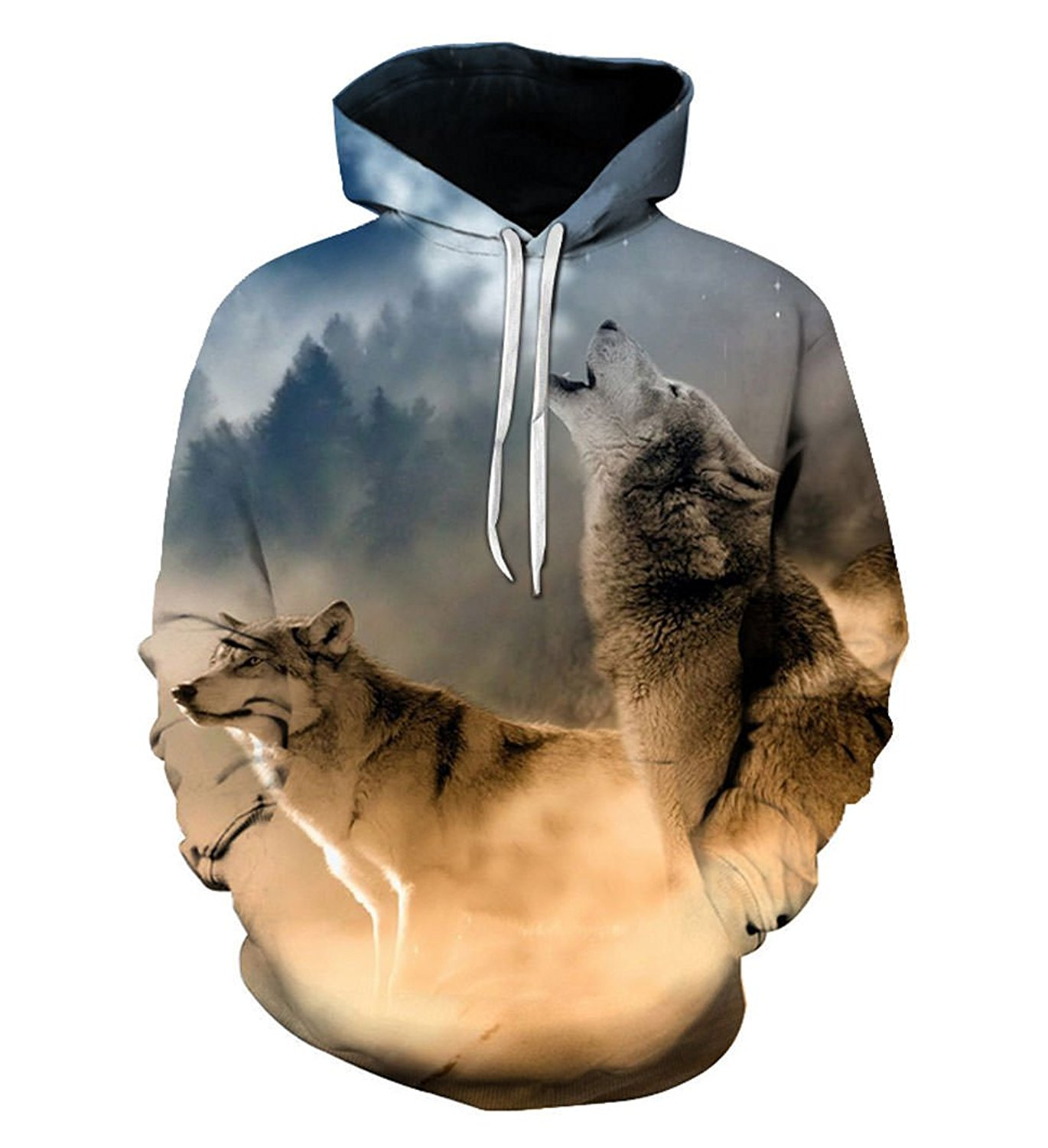 a74db91c7151ec Get Quotations · SWAG Hipster Men Animal Printed Hoodies Wolf Sweatshirts  Hooded Cool Hoody