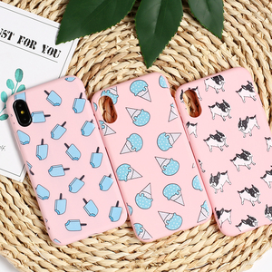 Cute Puppy Pug French Bulldog Ice Cream Soft TPU Silicone Matte Case Cover For iPhone 6 6S 5S 7 8 8Plus X XS Max
