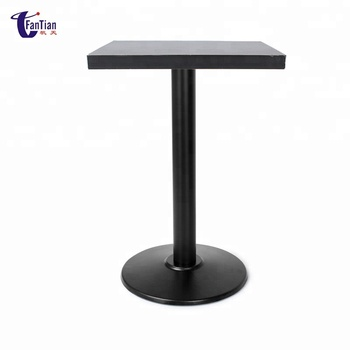Cast Iron Base Round Melamine Dining Tables Factory Rotating Table Expandable Product On