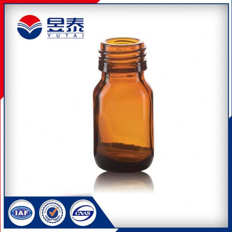 20ML AMBER LIQUID MEDICINE MAPLE SYRUP GLASS BOTTLE