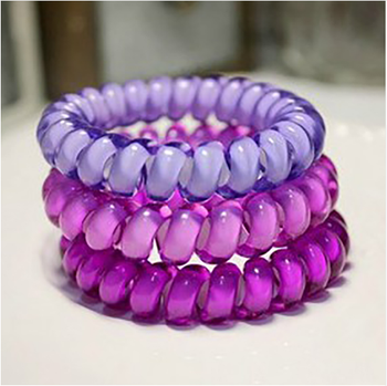 25 colors middle Size Hair Scrunchie Popular Korean Candy Color Telephone  Wire Style Elastic Band Rope 1ae82e6748e