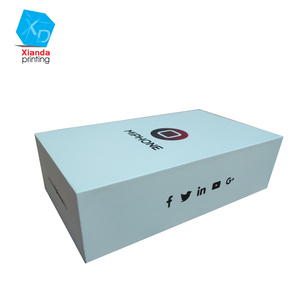 Mobile phone packaging box custom logo printed, packing box for cell phone