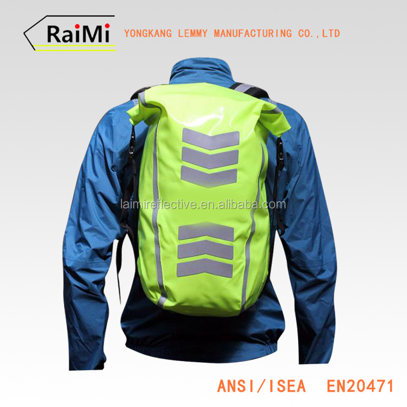Cycling Safety Equipment high vis reflective back pack covers