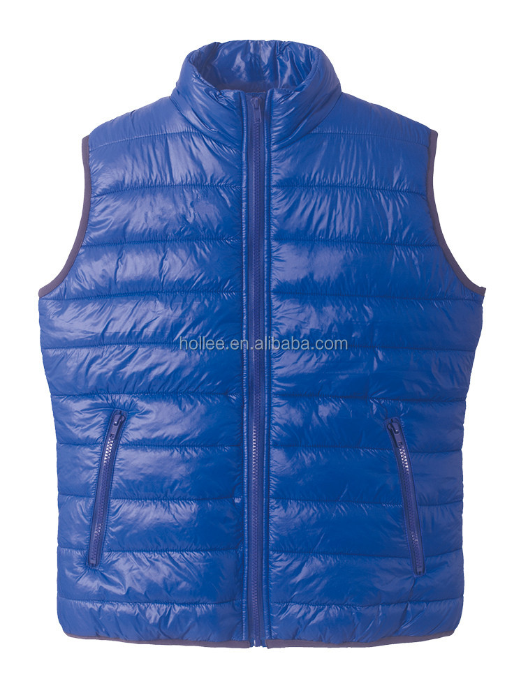 mens clothing blue foldable duck down vests