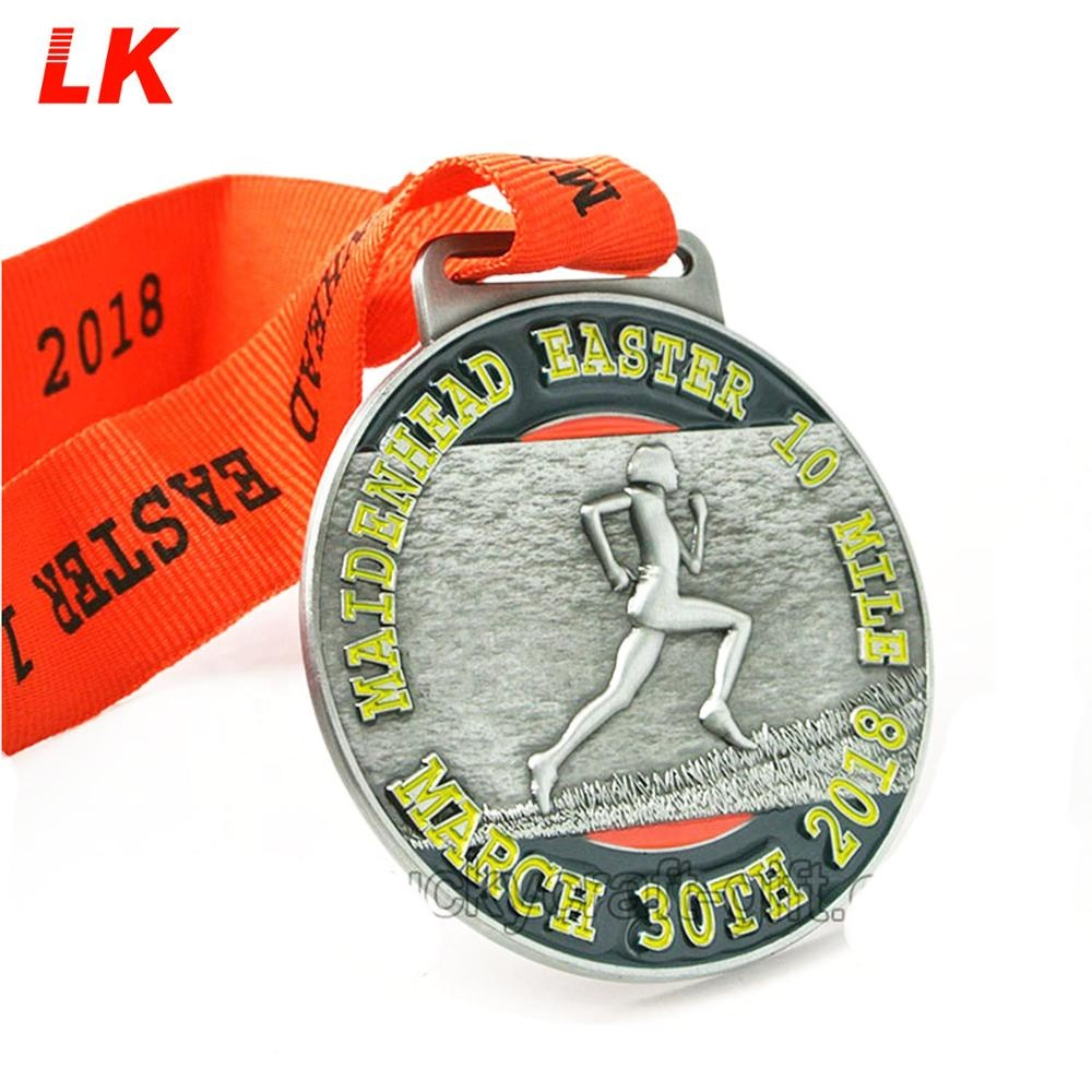 Cheap custom medalhas de metal 3D com fita made in china