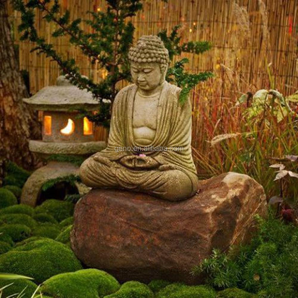 Estilo zen estatua de buda sentado estatua de buda para la - Estatuas de jardin ...