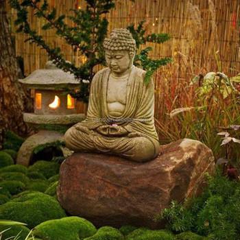 Zen style buddha statue sitting buddha statue for garden for Statue jardin zen