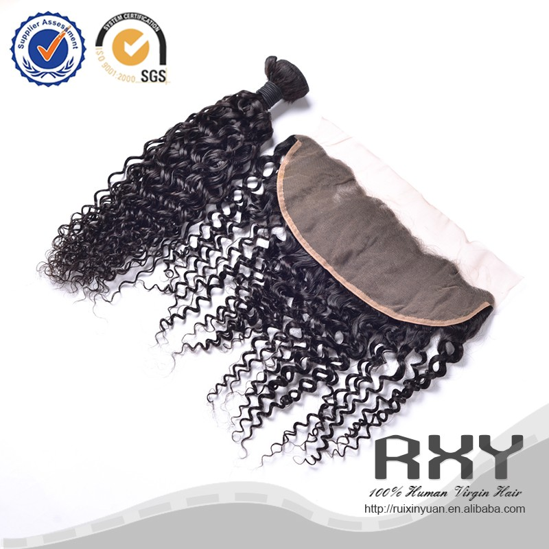 RXY high quality 4*13 frontal with water wave ear to ear lace frontal hair pieces