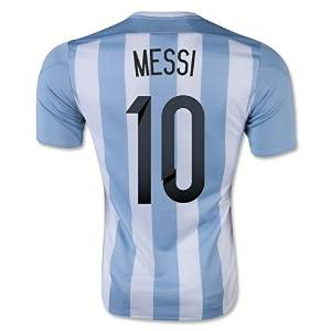 5b470187c Get Quotations · 2018 World Cup Argentina Messi Kids  10 Soccer Kit Jersey  and Shorts All Youth Sizes