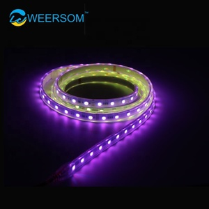 function of break-point continue transmission built in IC P943 smd 5050rgb waterproof multi color led strip rgb addressable