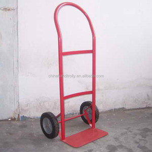 lightweight continuous handle solid tire transportation dolly