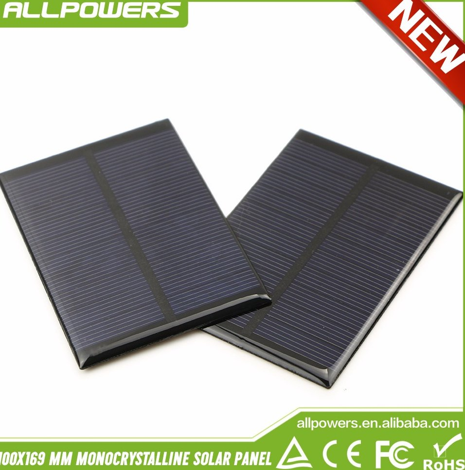 Mini Monocrystalline Solar Panel 5v 0.75W Epoxy Panel Solar Cell for DIY Modification.