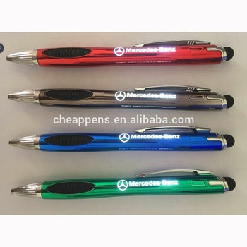 Custom metal LED Light logo Flashed ball pen