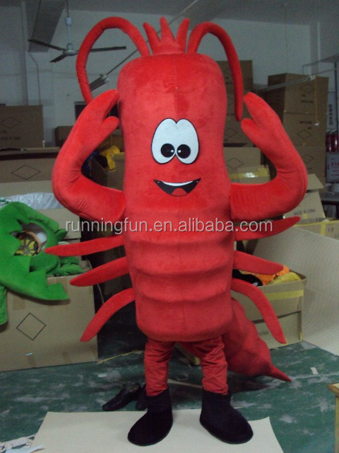 lobster mascot costume for advertisng, funny plush model costume for activities