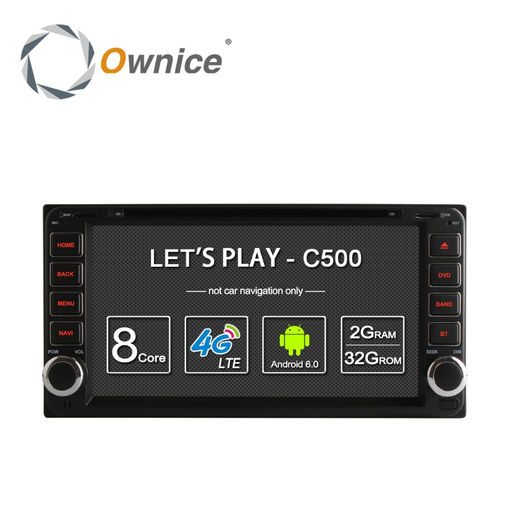 Ownice C500 <strong>Android</strong> 6.0 Octa core Car DVD GPS Radio For <strong>Toyota</strong> <strong>universal</strong> 2 din support canbus built in Wifi BT