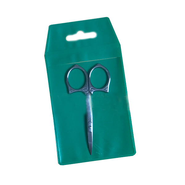 plastic scissor makeup tools packaging protector pouch with hanger