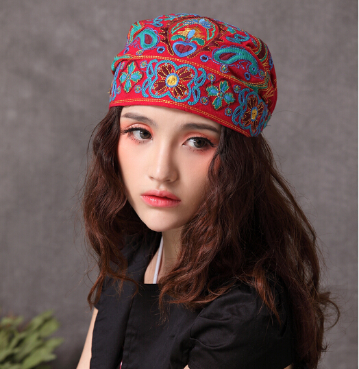 Bohemian Headbands Indie Hats Tribal Hair Wrap Embroidered Kerchief cf4ee833a9a