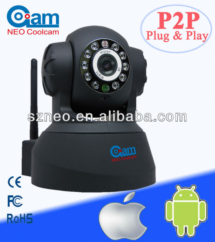 Mini wif Pan/Tilt nightvision baby moitor security network Wireless P2P IP camera NEO coolcam