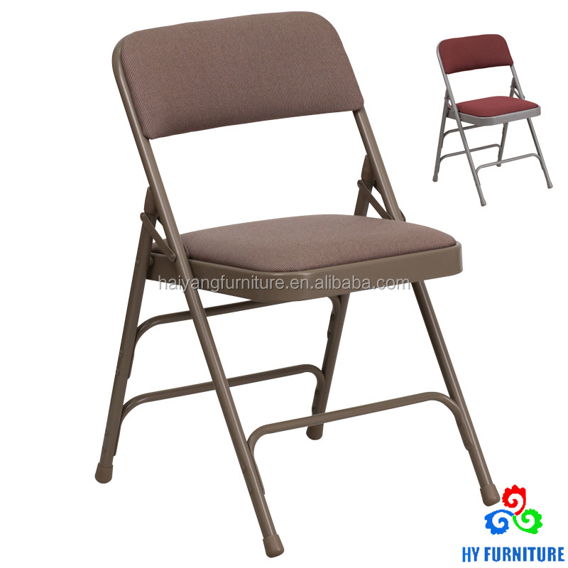 Modern furniture supplier metal folding chair with strong structure wholesale