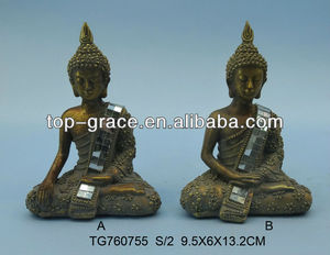 wholesale polyresin thailand buddha for home decoration