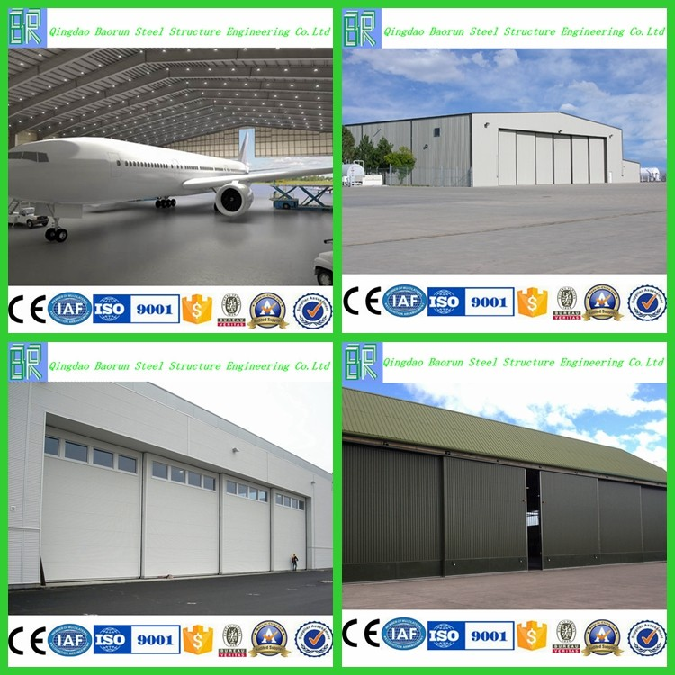 Low Cost Steel Frame Prefabricated Hangar