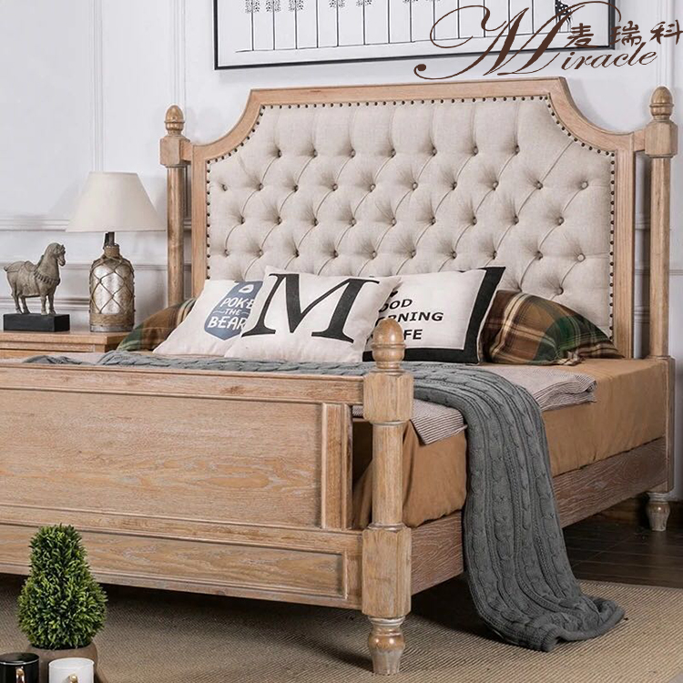 French Country Oak Frame Wood King Size