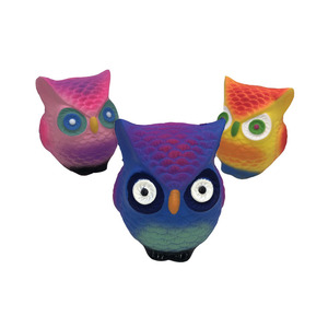 New design novelty factory direct selling PU soft slow rising cute owl shape anti stress animal squishy toy for kids
