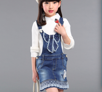 official discount collection excellent quality Custom Girls Lovely Denim Dungaree Dress With Lace Hem And Butterfly - Buy  Denim Dungaree,Jeans Dungaree,Kids Dungaree Dress Product on Alibaba.com
