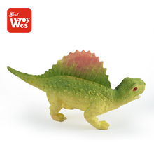Enviroment friendly fun stretchable soft rubber simulation dinosaur model anim toy for kids