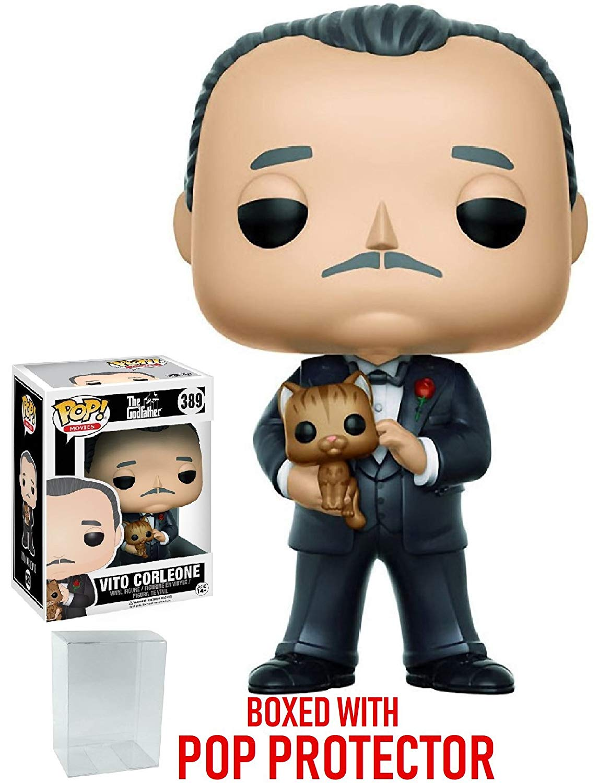Funko Pop! Movies: Godfather Don Vito Corleone Vinyl Figure (Bundled with Pop BOX PROTECTOR CASE)