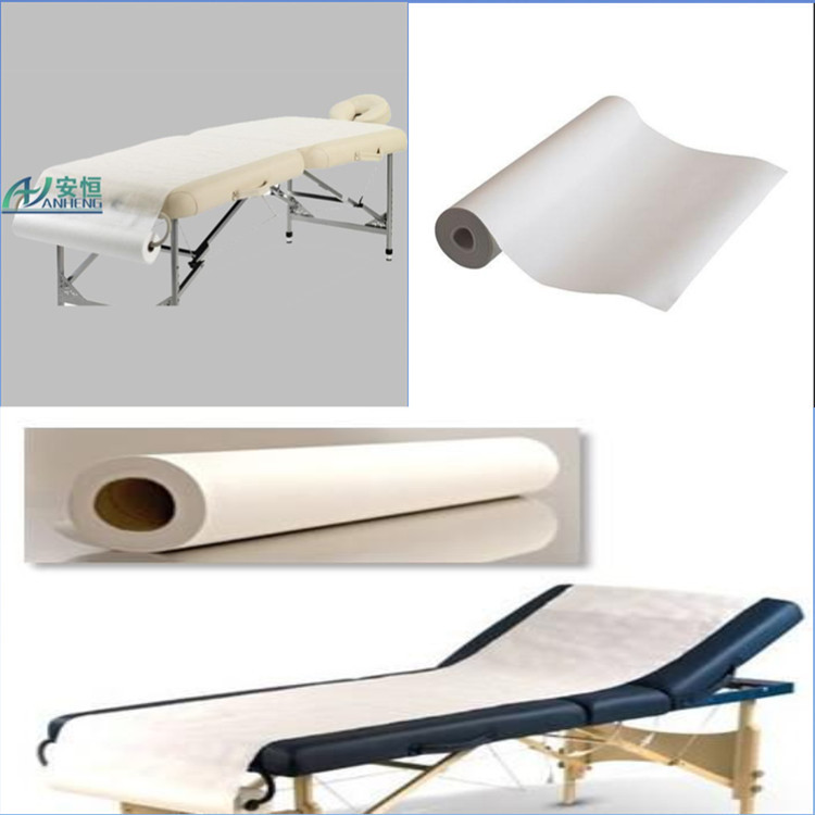 Anheng brand Disposable rolls corrugated paper rolls exam couch paper roll for hospital examination table massage bed cover