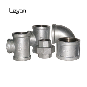 Water supply quickly delivery galvanized cast iron threaded pipe fittings
