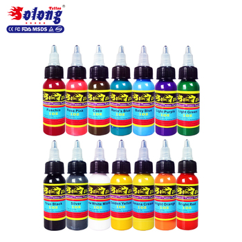 Solong Supplies 14 Different Colors Tattoo Ink Set 30ml/bottle Good ...