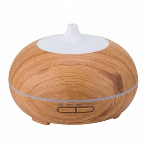 New Art Naturals Wood Grain Ultrasonic Aromatherapy Humidifier Bamboo Aroma 300Ml Essential Oil Diffuser