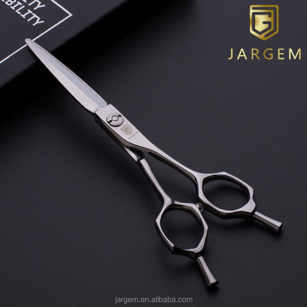 New design curved handle barber scissors 5.5 inch professional hair scissors