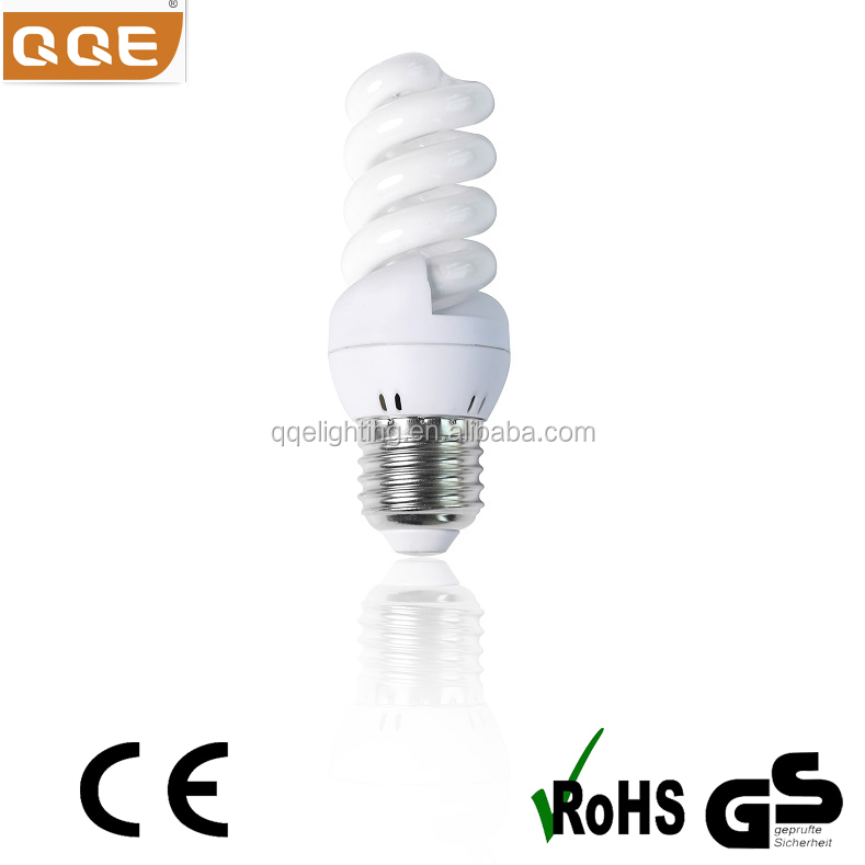 Full-spiral CFL Lamp, Energy Saving Lamp, 5w 11w 15w , Tri-color/Mixed Powder