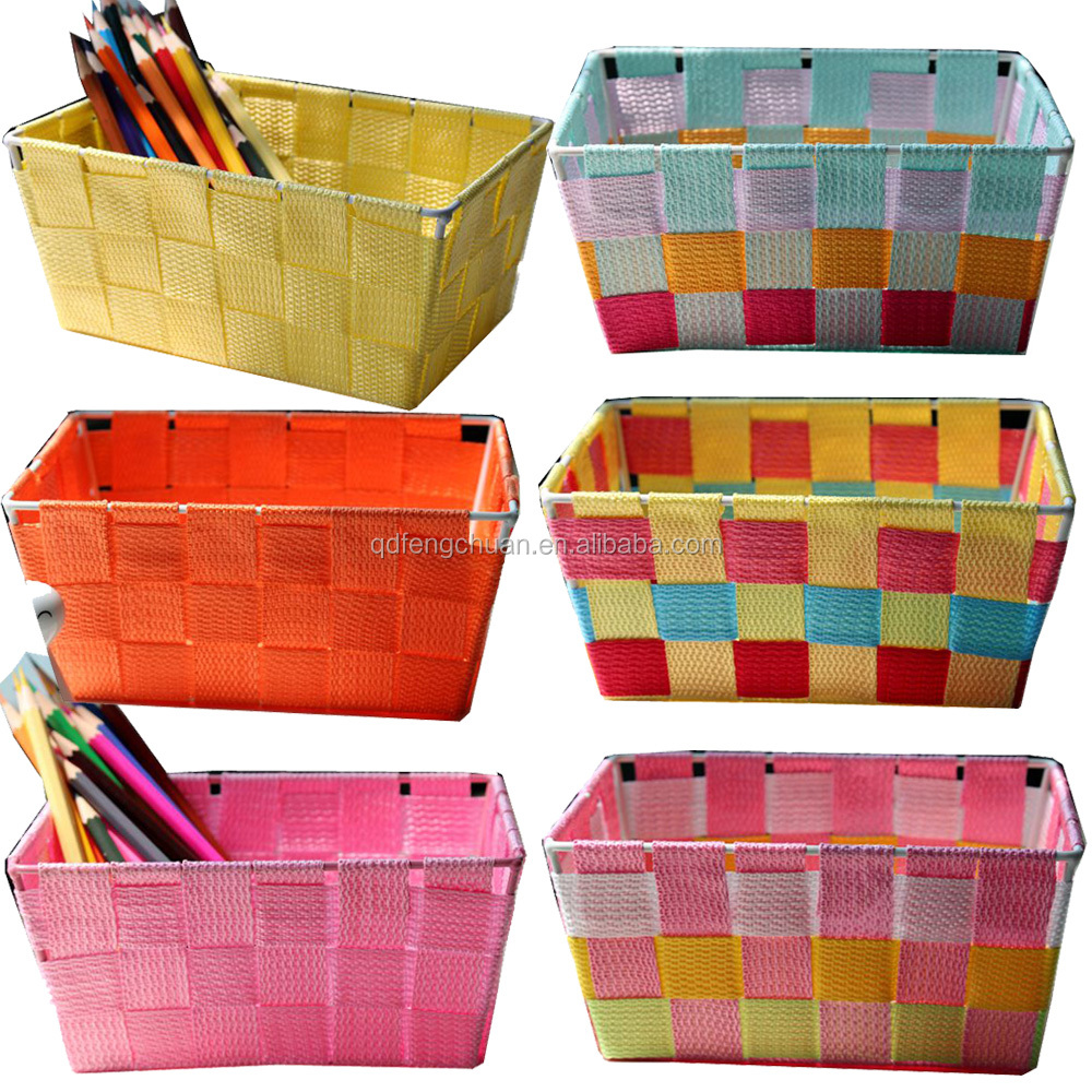 Wholesale cheap mini colored nylon woven polypropylene basket