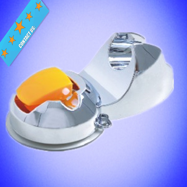 Popular round orange color good quality hand shower holder with Suction Cup