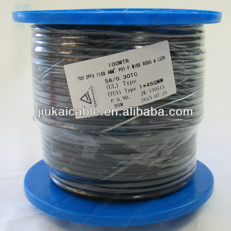Solar Wire Cable 4MM 1KV 25A UV resistance TUV tested 100% cooper