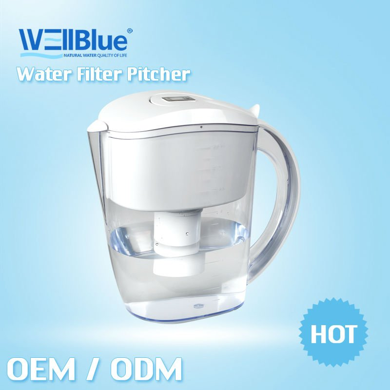 Wellblue high pH and low ORP water mineral pitcher, water purifier jug