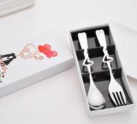 Party Supplier Heart Shaped Spoon And Fork Guests Wedding Door Gifts For Guests
