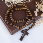 A&J 6 Years Experience high quality natural wood rosary,miraculous Christian Rosary,59 beads crosses for rosaries.