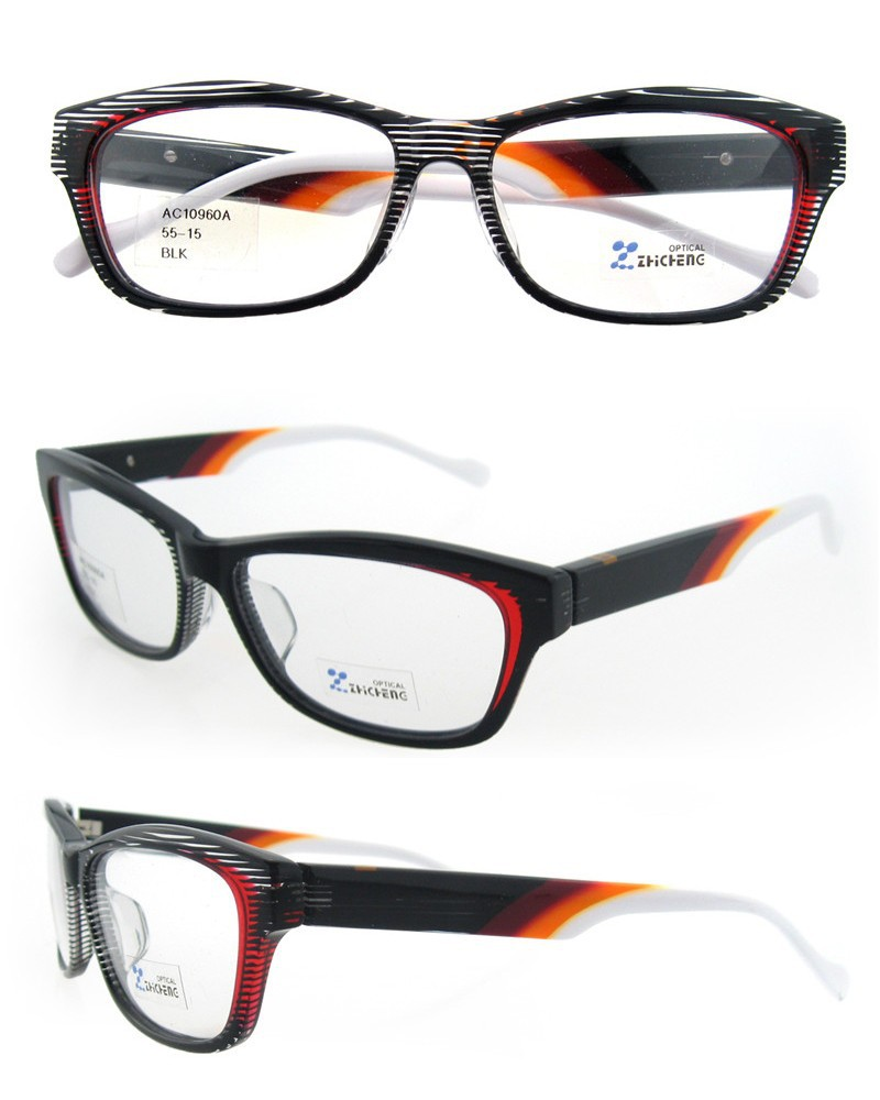 new design brand specialized frame chinese black and white with spring hinge for women with CE FDA