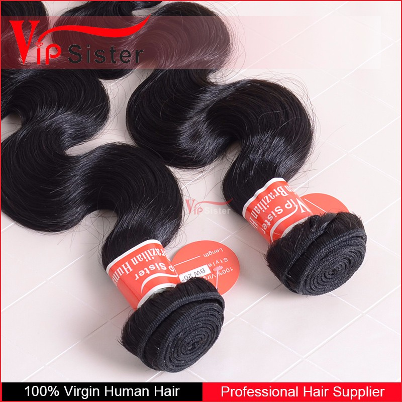 2016 Body Wave Brazilian 100% Human Hair Natural Color Unprocessed 100 Virgin Human Hair
