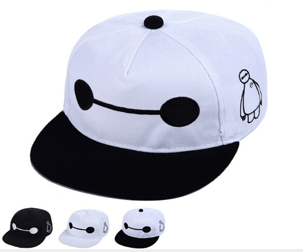 d002c6f5a5d Get Quotations · Black and White Big Hero Famous Movies Baby Cotton Baseball  Cap Cool Baymax Unisex Sun Caps