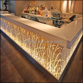 Merveilleux L Shape Bar Top Led Light Bar Counter,solid Surface Commercial Bar Counters  Design