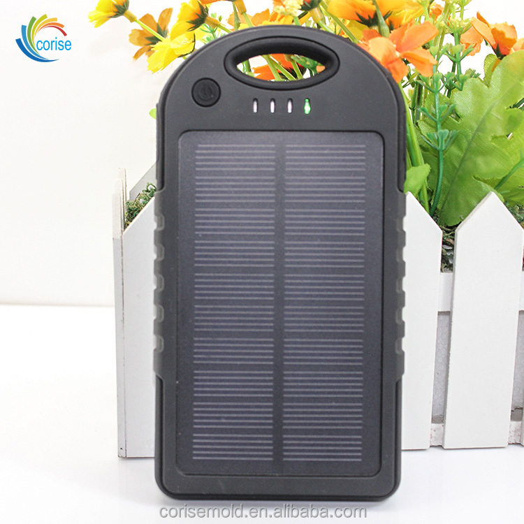Universal Dual USB Tahan Air Ponsel Charger 5000 MAh Solar Power Bank