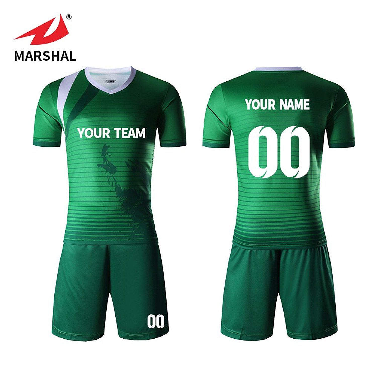 35a85c687 Marshal Jersey Custom Soccer Uniforms Green Pattern Soccer Team Jersey For  Men Personal Design