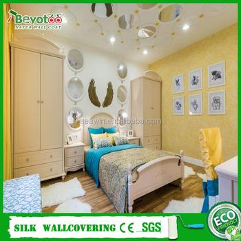 Dekorative Innenwand Beschichtung 3D Wandverkleidung Farbe Faser Baumwolle Wand  Mantel